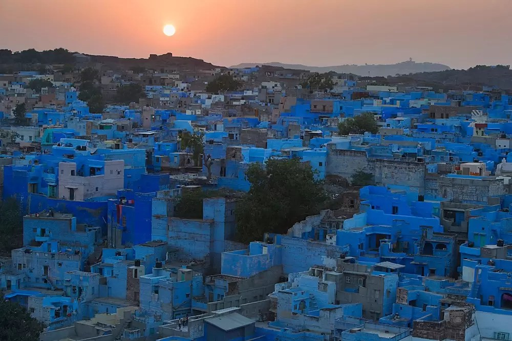 Bird's eye view of Jodhpur's Blue City