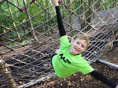Kid on Scramble Net
