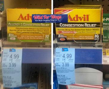 Advil Congestion As Low As 99¢!