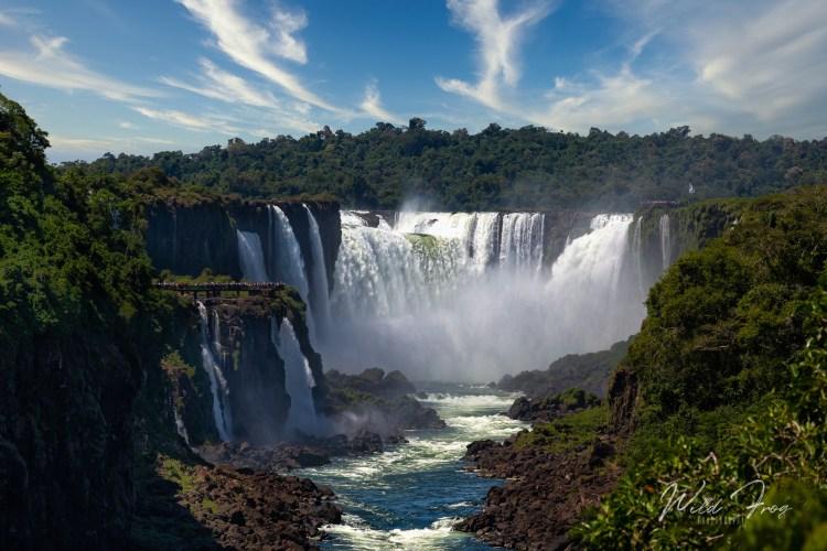 Iguazu falls. Argentina and  Brazilian sides