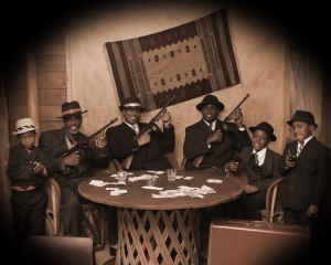 A gangster photo shoot at Wild Gals Old Time Photo in Pigeon Forge.