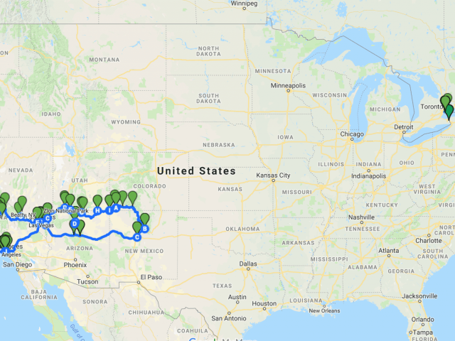 USA Road Trip+ Route