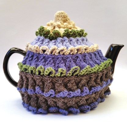 Knitted tea cosy for large pot.
