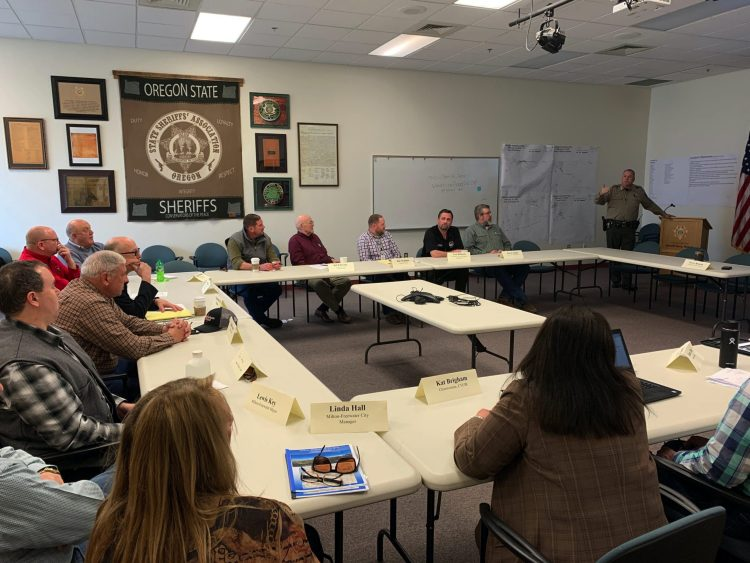 Sheriff Terry Rowan delivers a summary of the Umatilla County flooding.