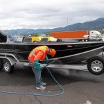 Boaters required to stop at aquatic invasive species inspection stations