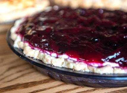 Huckleberry Cream Delight Pie