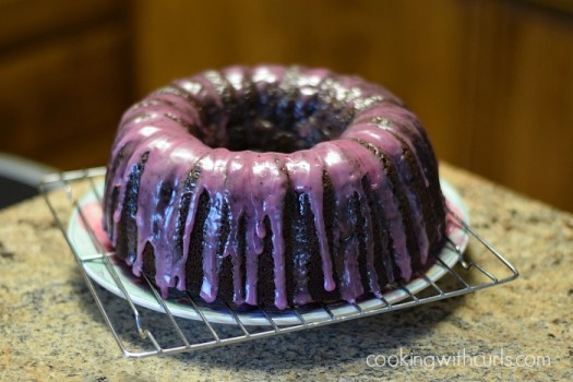 Huckleberry Chocolate Rum Cake