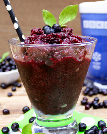 Huckleberry Vodka Slush Drink