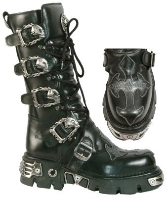 New Rock Boots 403 Itali y Nomada Negro Antik Acero