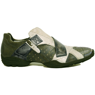New Rock Boots 8133 Cheyenne Kaki Cheyenne Blanco
