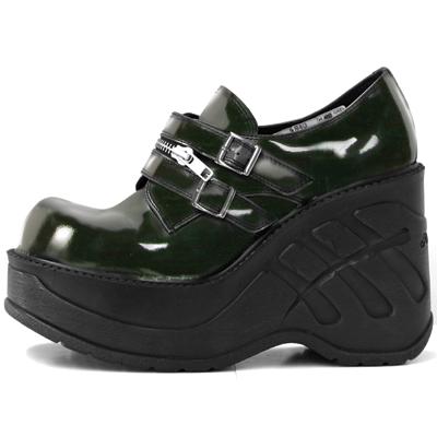New Rock Boots 9810 Charol Negro Cuña Sport Negro