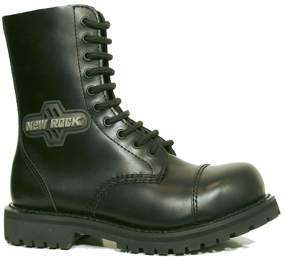 New Rock Boots Mili 1 Antic Negro Good Year Welt