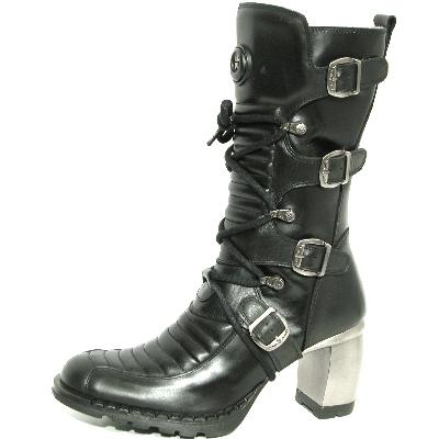 New Rock Boots 6374 Nomada e Itali Negro Formula Negro_acero T.acero
