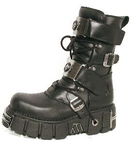 New Rock Boots 143 Itali Negro y Nomada Negro Tower Negro Acero