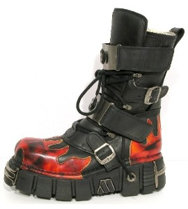 New Rock Boots 150 Itali Negro y Antic Fuego Tower Negro Acero