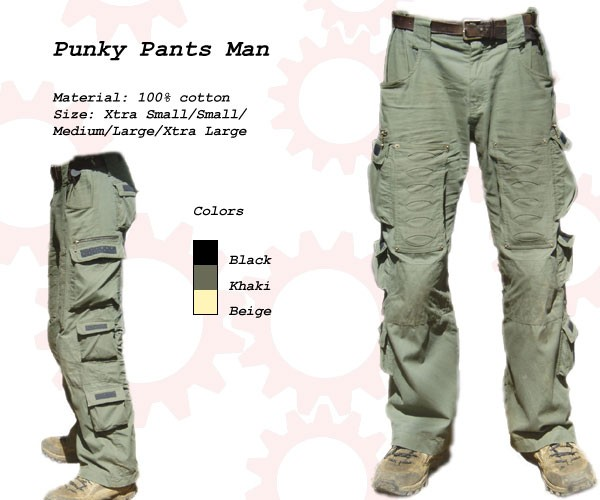 Random Mens Punky Pants - BLACK