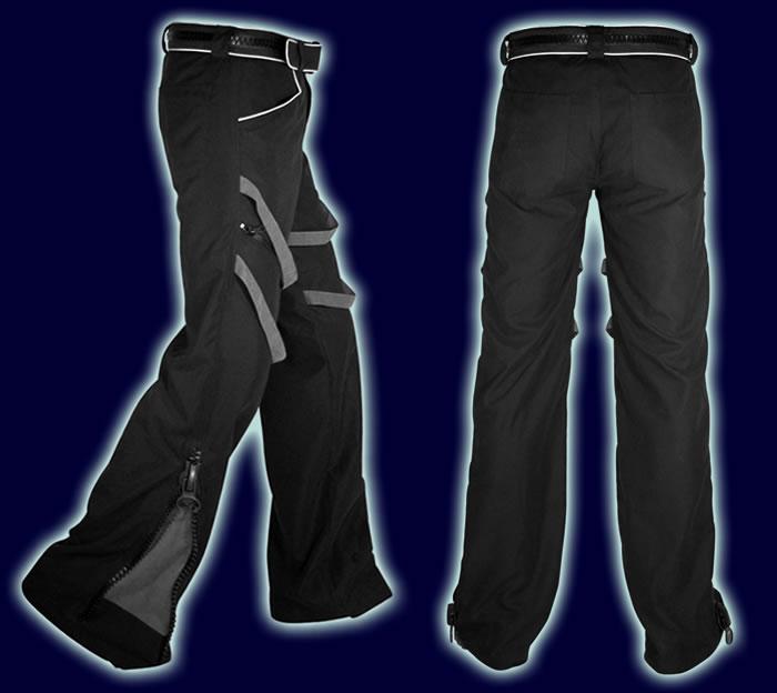 Zip Boys: Black & Dark Grey