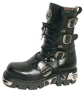 New Rock Boots 373-6 Itali y Nomada Negro, Reactor Negro E14 Toberas