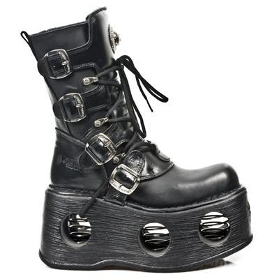 New Rock Boots 373-s2 Itali Y Nomada Negro Neptuno