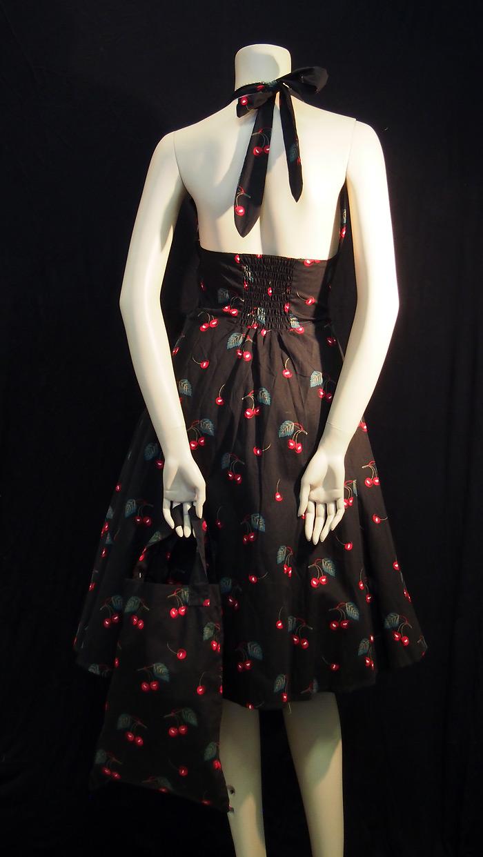 Rockabilly Sweet Cherries Halter Neck Dress