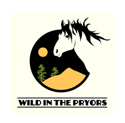 Logo designed by Amber Bushnell.  Wild in the Pryors and this logo is copyrighted.