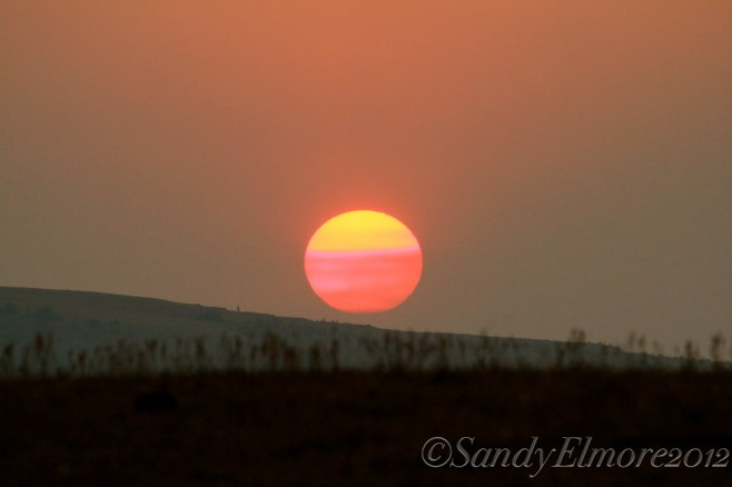 Sunset in the Pryors, August 30, 2012