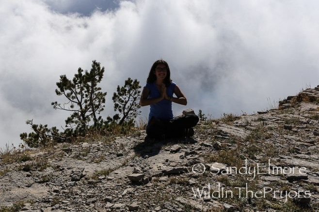 Yoga at 9,000 feet!!