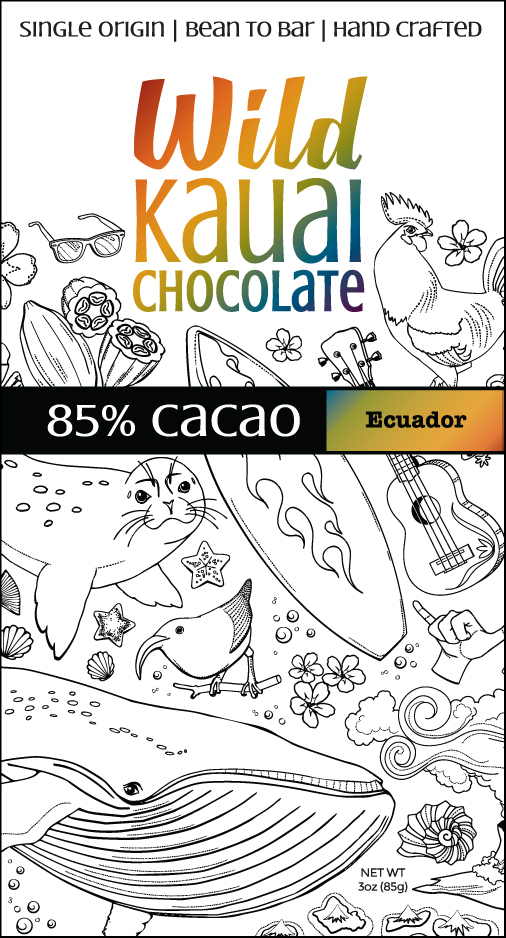 Wild Kauai Chocolate 80% Cacao Bar