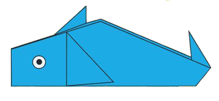 Origami ballena. Imagen: origamifacil.com