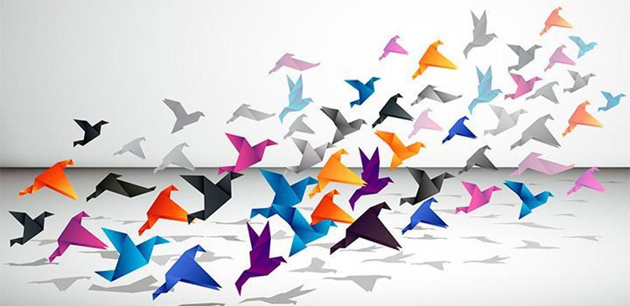 Origami grulla.Imagen: papiroflexiamania.com