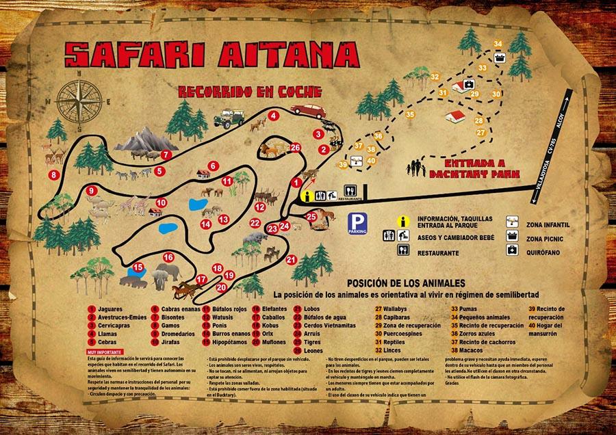 Plano Safari Aitana