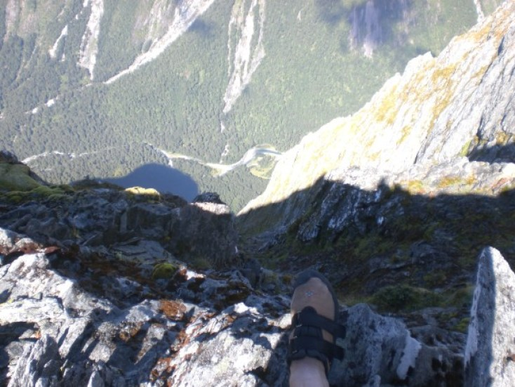 1500m stright down into Sinbad Gully