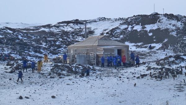 Ernest Shackleton's hut. 15 people lived here for a winter