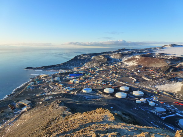 Arial view of McMurdo Station