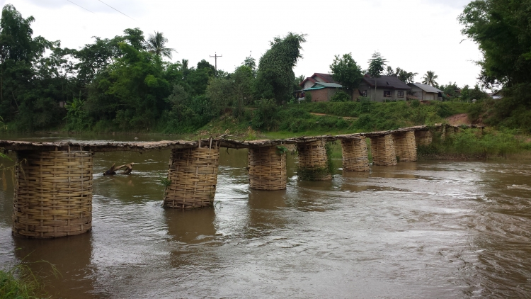 Laos Bamboo bridge