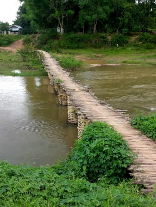 Laos Bamboo bridge