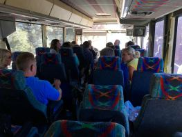 On the bus to San Fransisco