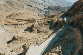 Masada hiking trails up