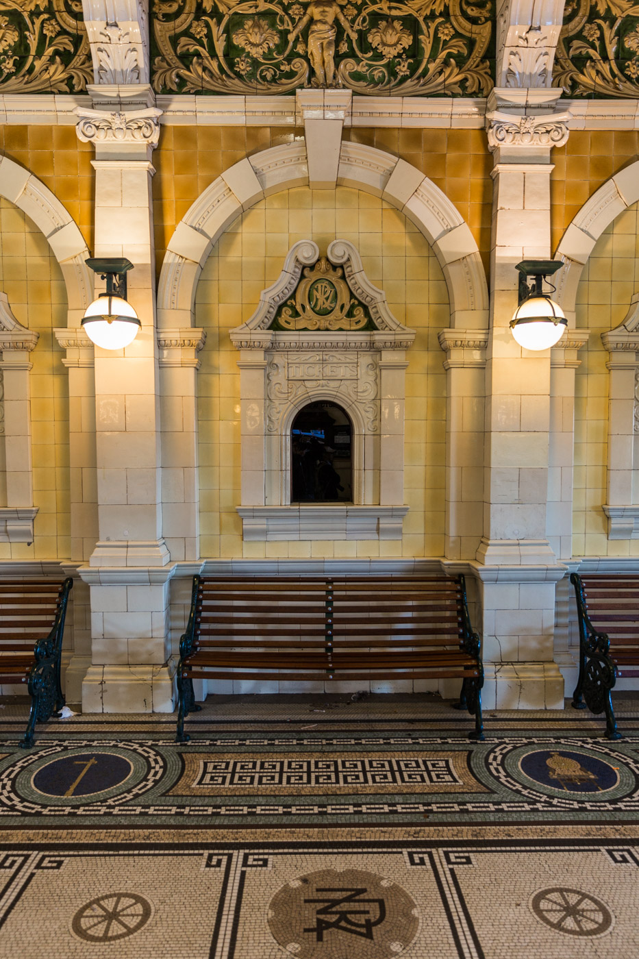 Dunedin Rail Station Interior, South Island, New Zealand