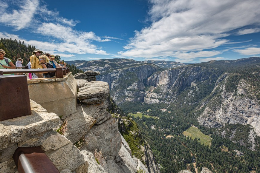 Glacier Point is one of the great spots for pictures in Yosemite Valley.