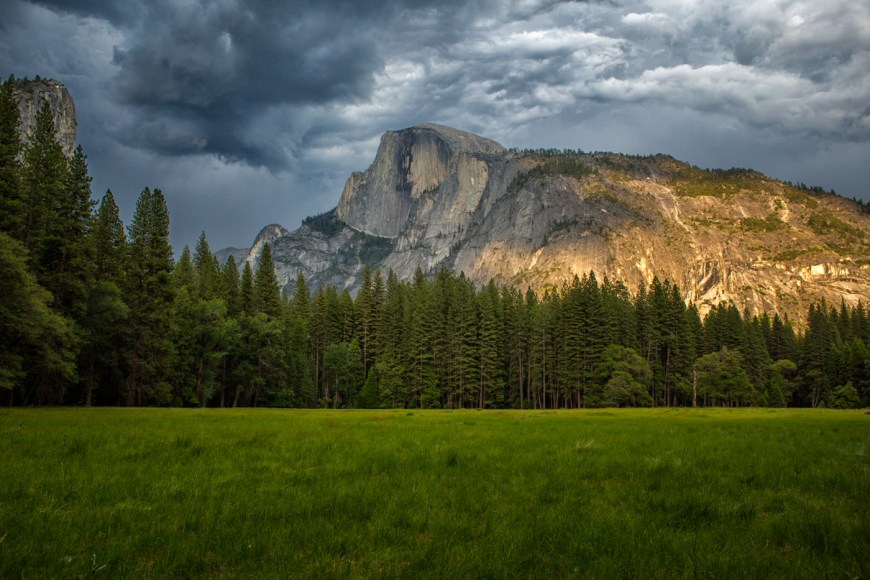The view from Stoneman Meadow  is one of the great spots for pictures in Yosemite Valley.