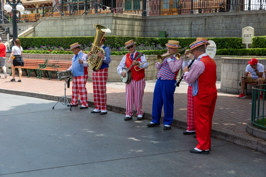 Main Street band Disneyland