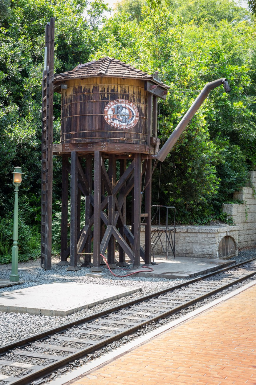 The Disneyland Railroad water tower, New Orleans Square, Disneyland