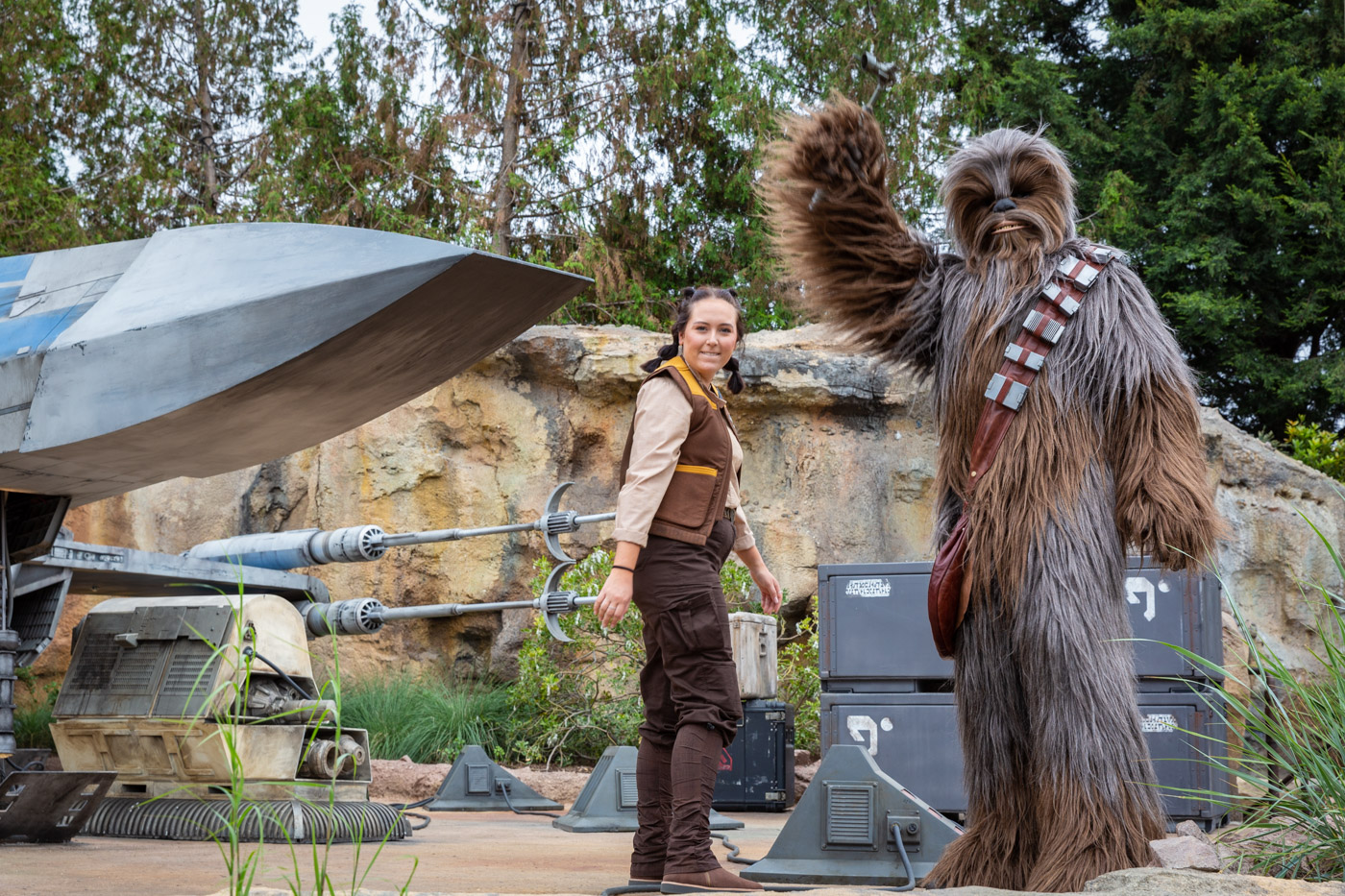 Chewy inside Disneyland's Galaxy's Edge
