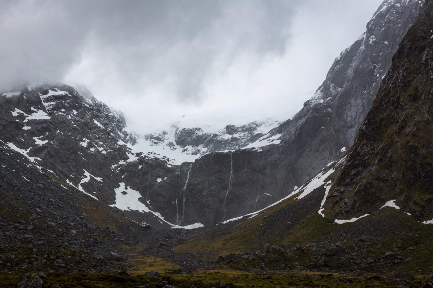 The top of the pass from Te Anau to Milford Sound, New Zealand