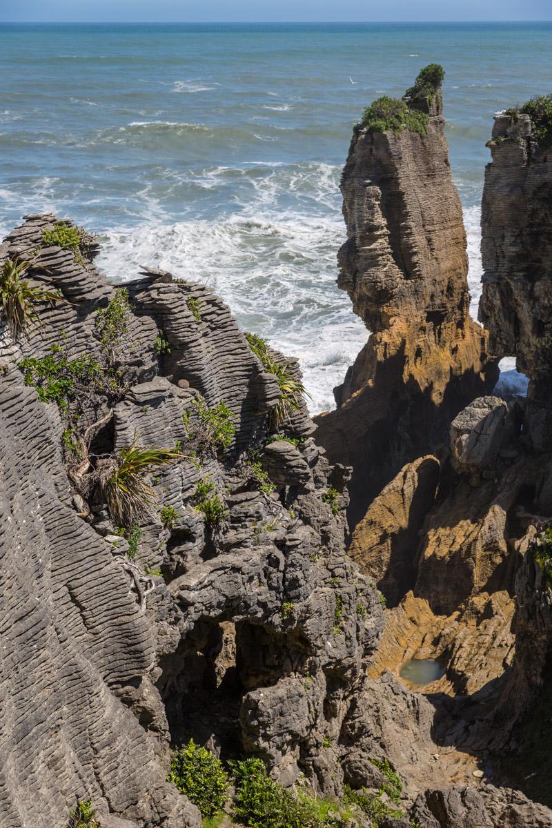 Punakaiki Pancake Rocks and Blowholes Walk New Zealand