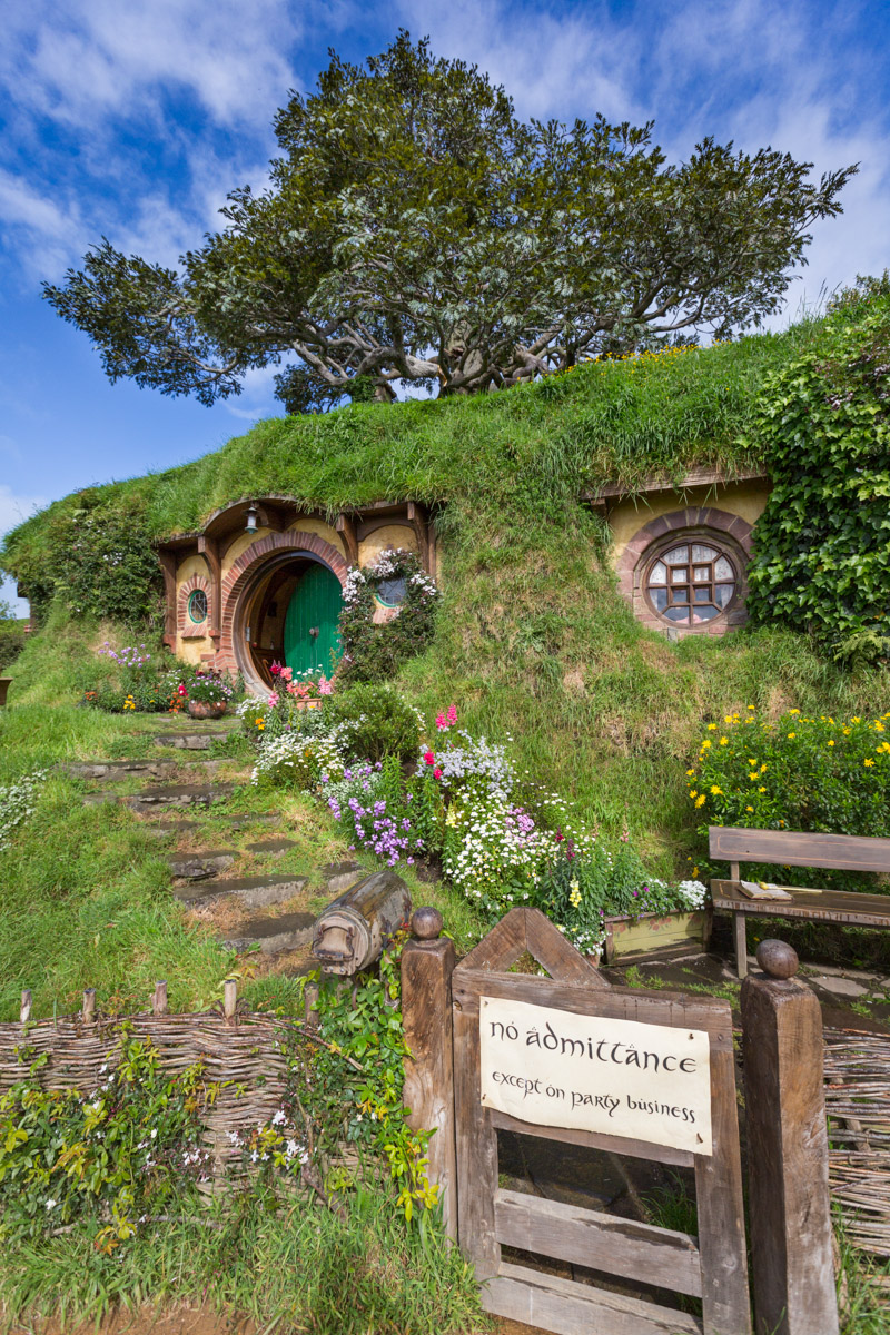 Bag End, Hobbiton in Matamata, North Island, New Zealand
