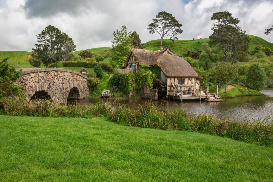 Hobbiton in Matamata, North Island, New Zealand