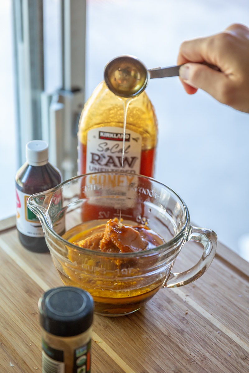 Honey adds a nice sweetness to the batter