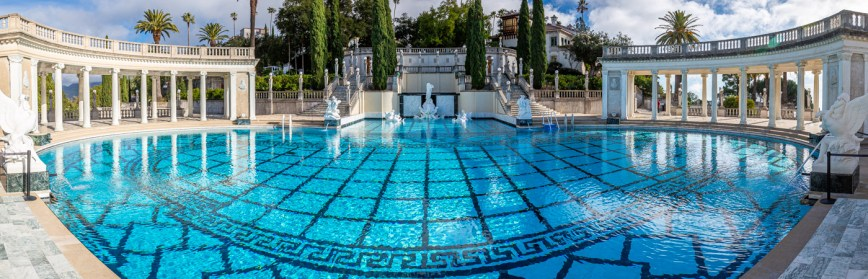 The Famous Neptune Pool at Hearst Castle. Hearst Castle Tours.